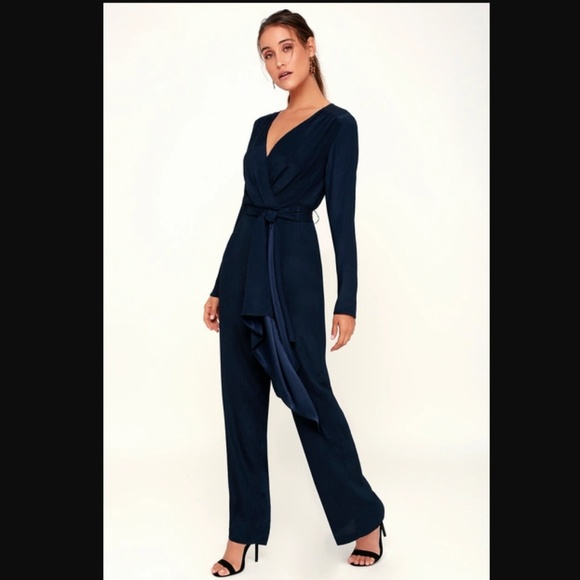 857ac8e5aef C/MEO Collective Pants | Cmeo Eminence Navy Blue Jumpsuit | Poshmark